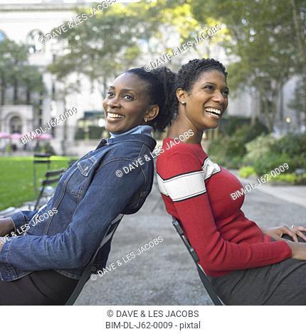 Friends sitting in park