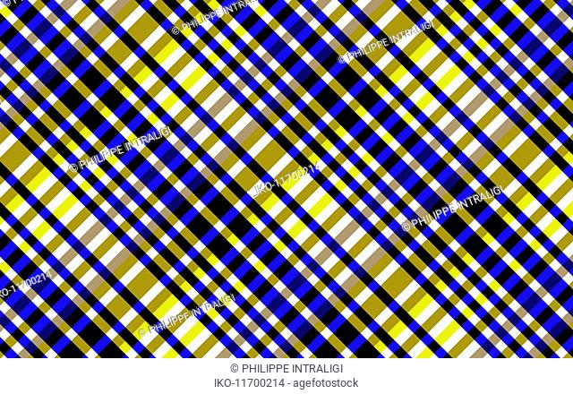 Abstract full frame crisscrossing striped pattern