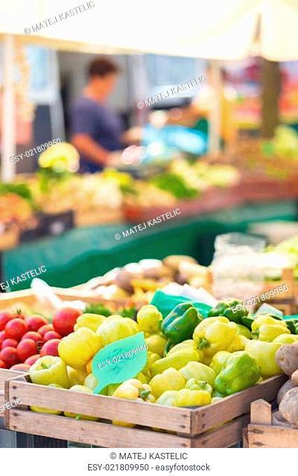 Farmers' market stall