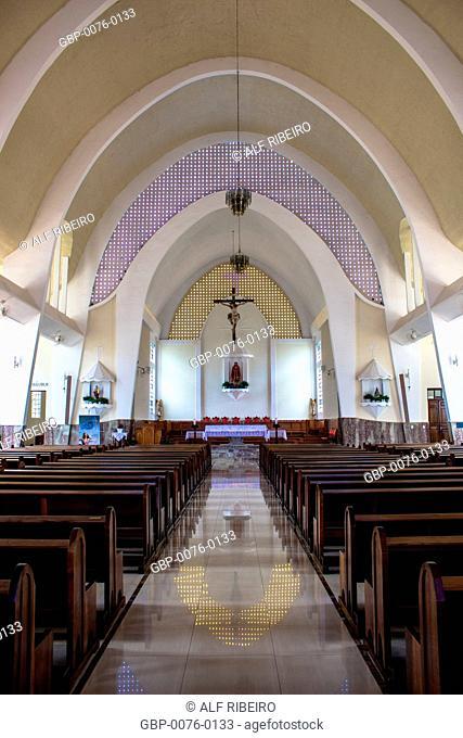 Inside Lord Parish Bom Jesus, center, Matão, São Paulo, Brazil