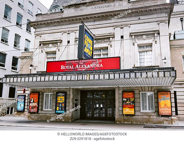Royal Alexandria Theatre, Toronto, Ontario, Canada. Built in 1907 it is the oldest continuously operating theatre in North America