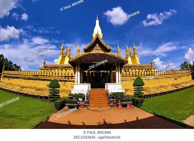 Pha That Luang gold Stupa, Vientiane, Laos