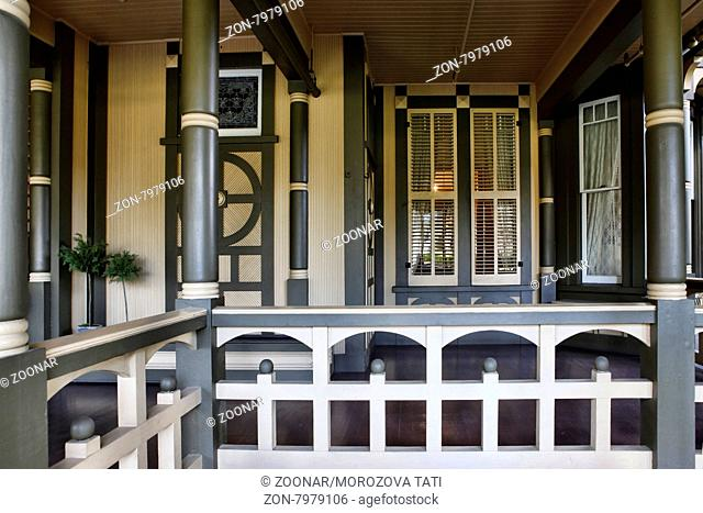 The Winchester Mystery House - the house number 525 on Winchester Boulevard in San Jose, California, USA, is now an extravagant tourist attraction