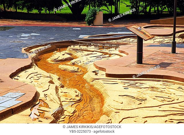 A scale model of the Mississippi on display at Mud Island in Memphis, Tennessee