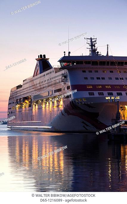 Estonia, Tallinn, Passenger Port, international ferry, sunrise