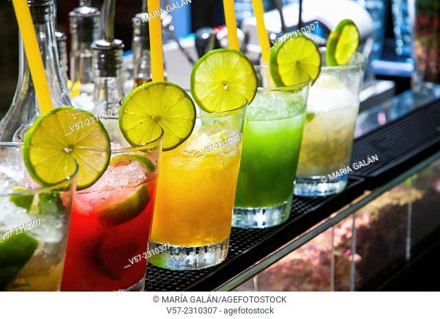 Assorted fruit soft drinks