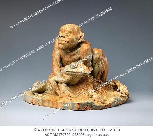 La Grenouillard (The Frog Man), ca. 1891, French, Saint-Amand-en-Puisaye, Stoneware, wt. confirmed: 13 in., 29.1 lb. (33 cm, 13