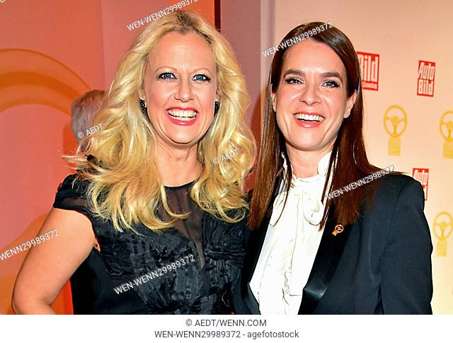 Das Goldene Lenkrad 2016 award at Axel Springer Haus in Mitte. Featuring: Barbara Schoeneberger, Katarina Witt Where: Berlin