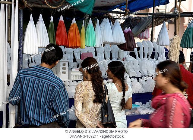 devotees outside Mount Mary Church ; Mount Mary Festival ; Bandra Fair ; Bombay  Mumbai ; Maharashtra ; India NO MR;NO PR
