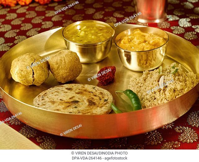 Indian food lunch Rajasthani thali, India, Asia