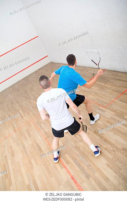 Squash, men playing squash