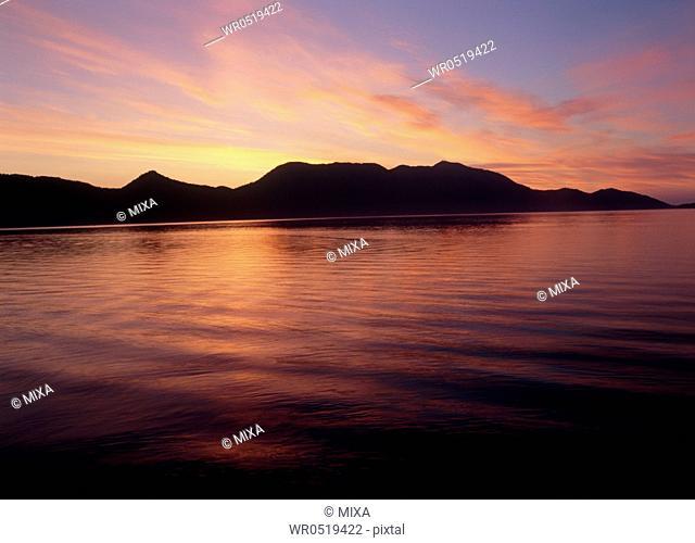 Morning Glow at Lake Shikotsu, Chitose, Hokkaido, Japan
