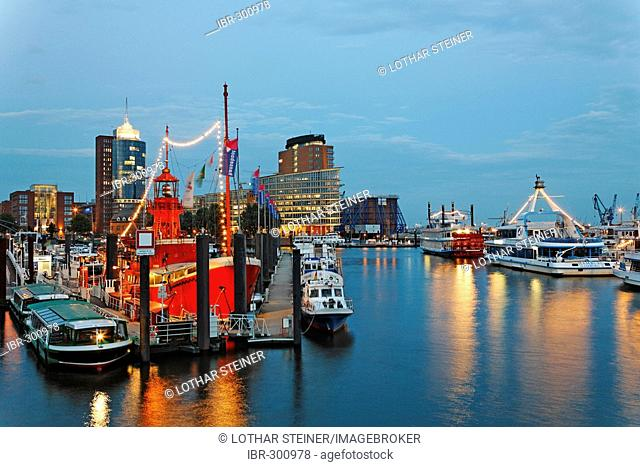 Lightship in Marina, Hamburg Harbour, Germany