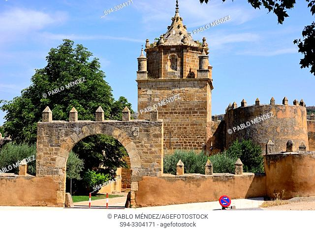 Entry of the monastery of Santa Maria de Veruela, Vera del Moncayo, Zaragoza, Spain