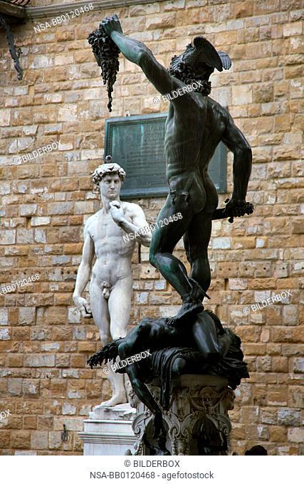 Italy, Florence, Piazza della Signoria, David