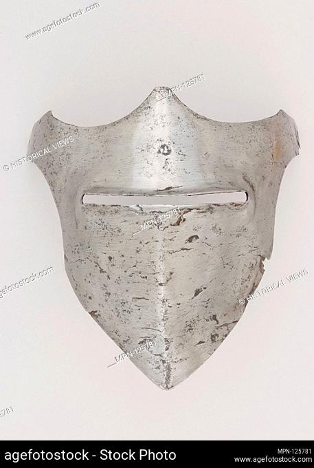 Visor. Date: ca. 1400-1450; Culture: Italian; Medium: Steel; Dimensions: H. 7 1/2 in. (19.1 cm); W. 7 3/4 in. (19.7 cm); D. 6 1/8 in. (15.6 cm); Wt