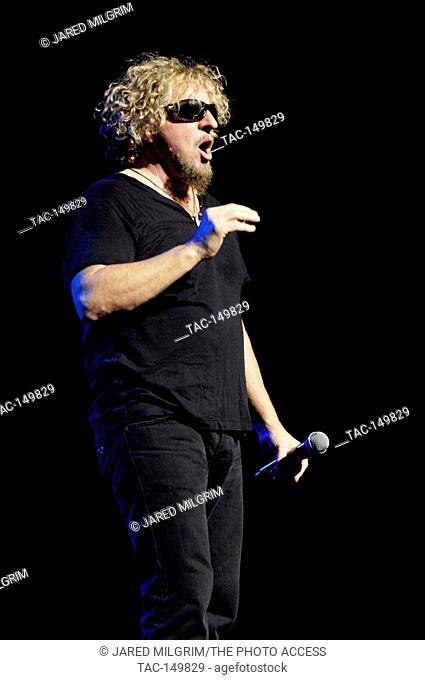 Sammy Hagar of Chickenfoot performs at the Gibson Amphitheatre in Los Angeles