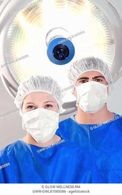 Two surgeons in an operating room