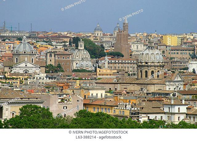 Overview of Rome from the Gianicolo. Rome. Italy