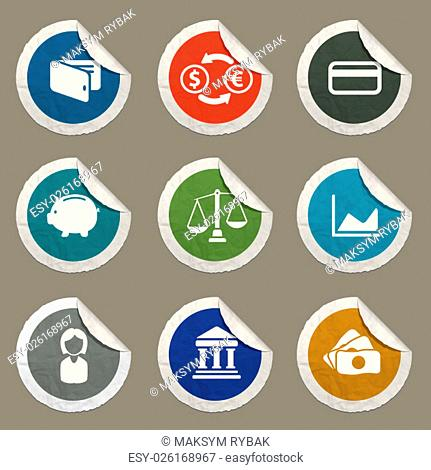 Finance icons set for web sites and user interface