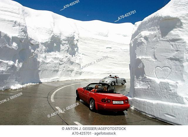 Snow at St. Gotthard Pass, Switzerland
