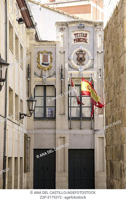 Zamora monumental town in Castile Leon on June 3, 2018 Spain. Teatro principal