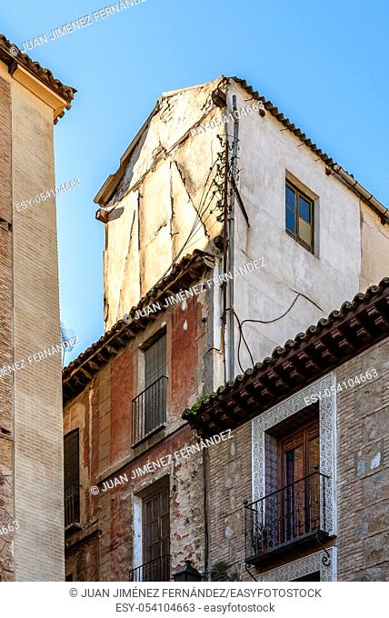 Old houses in the jewish quarter of Toledo, Spain