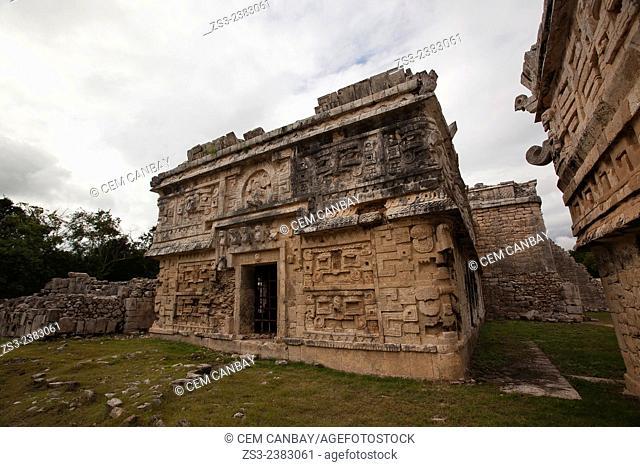 Las Monjas' complex ('The Nuns' or 'The Nunnery') at Chichen Itza Ruins, Chichen Itza, Yucatan Province, Mexico, Central America
