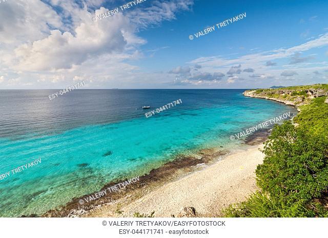 A landmark location on Bonaire for snorkeling, Dutch Caribbean Island