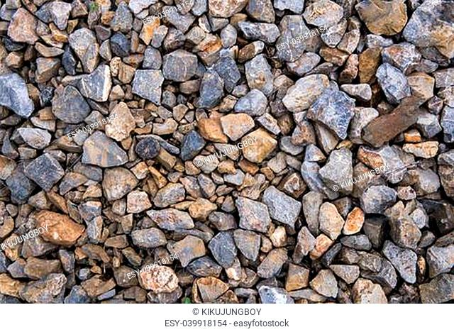 the texture of crushed gravel