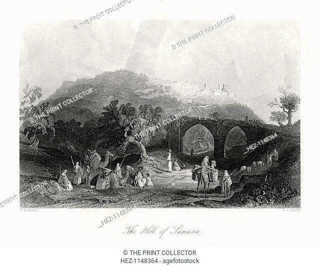 'The Hill of Samaria', 19th century. View of the hill which lies on the west bank of the River Jordan