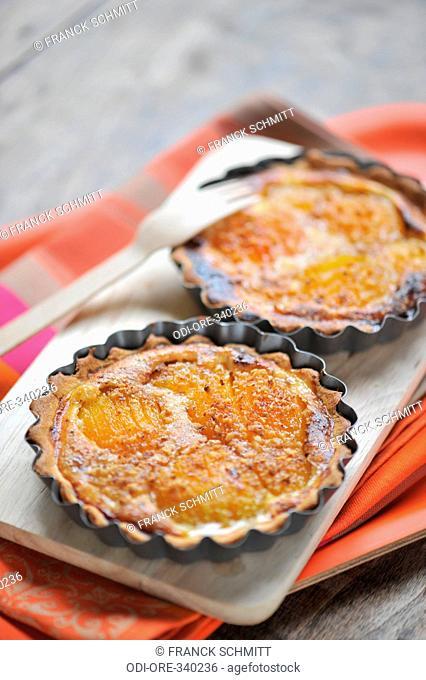 Apricot and hazelnut pies
