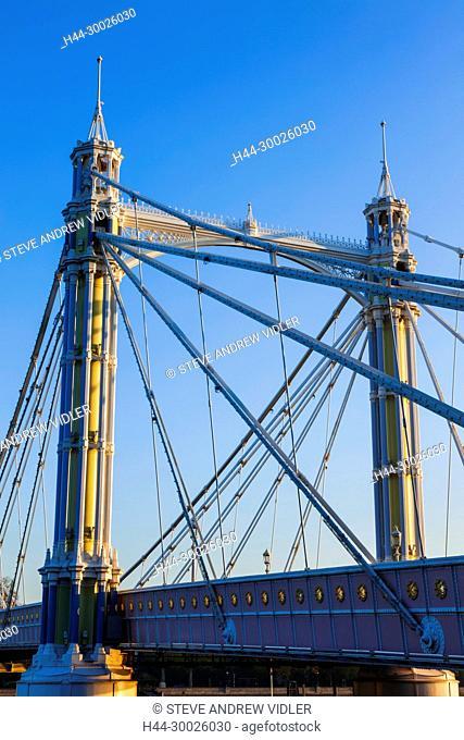 England, London, Chelsea, Albert Bridge