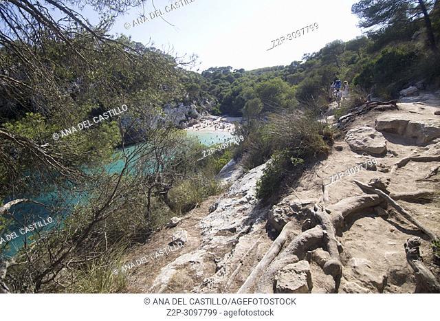 Macarelleta cove Minorca beach Balearic islands Spain