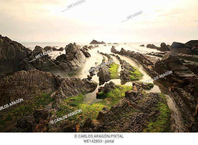 Beach of Barrika, Basque Country, Spain