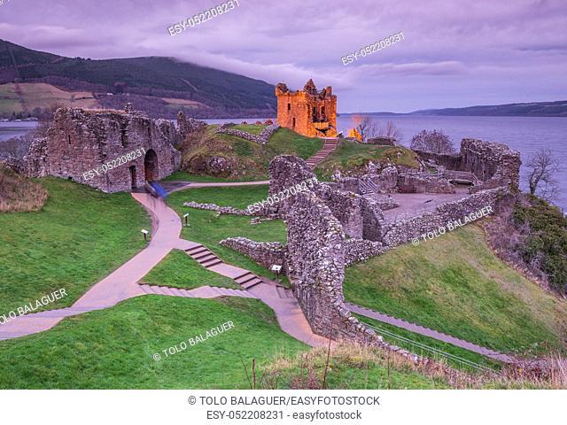 castillo de Urquhart, Patrimonio Nacional Escocés, lago Ness, Inverness, Highlands, Escocia, Reino Unido