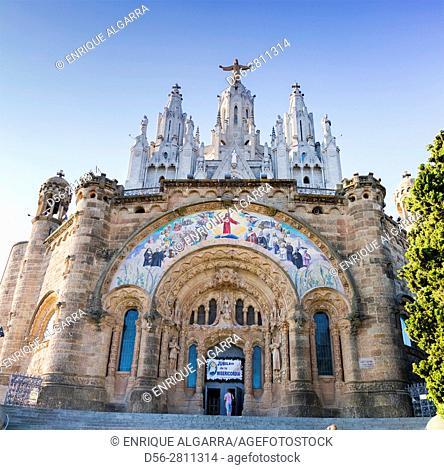 Church of the Sagrat Cor, Tibidabo, Barcelona. Catalonia, Spain Tibidabo mountain, Barcelona Catalonia, Spain