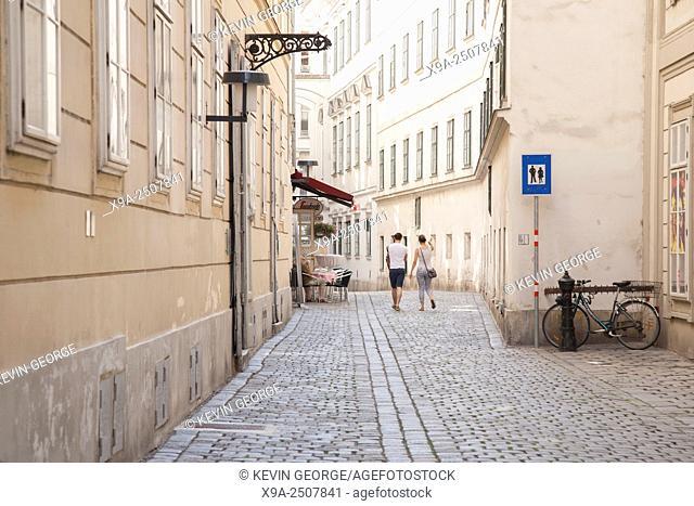Street in Vienna, Austria, Europe