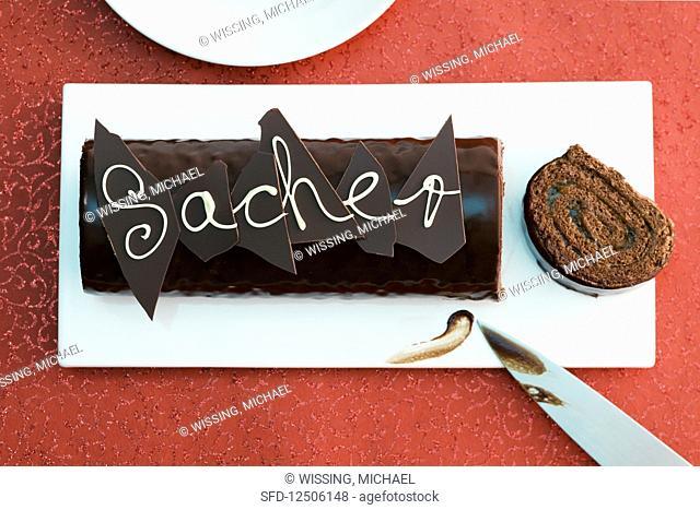 Sacher-style Swiss roll