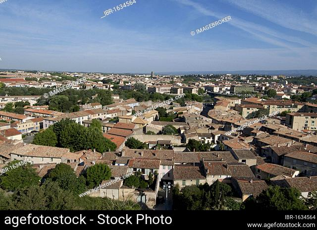 Overlooking Carcassonne, Aude, France, Europe