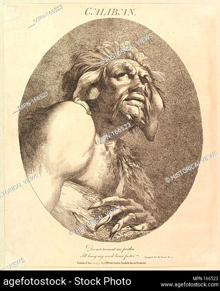 Caliban (Twelve Characters from Shakespeare). Artist and engraver: Etched and published by John Hamilton Mortimer (British