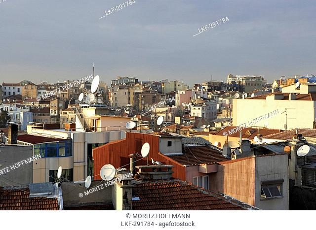 View over the Beyoglu district, Istanbul, Turkey
