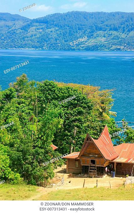 Traditional Batak house on Samosir island, Sumatra