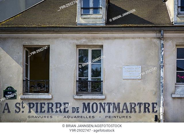 First city hall of Montmarte established in 1790 near Place de Tertre, Montmartre, Paris France