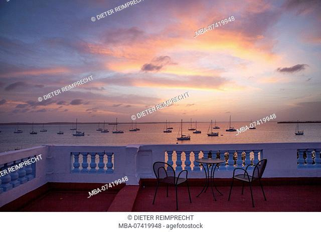 Evening mood in the sunset, Cienfuegos, Cuba