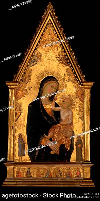 Madonna and Child with Saints and Angels. Artist: Lippo Memmi (Filippo di Memmo) (Italian, Sienese, active by 1317-died 1356); Date: ca