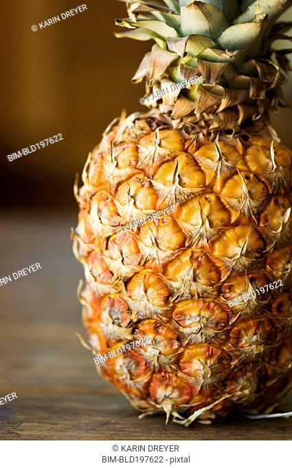 Close up of organic pineapple