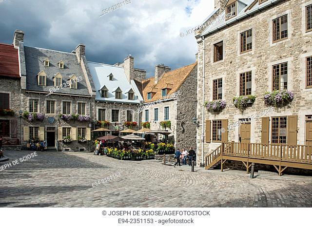 The Place Royale in Quebec City, Canada