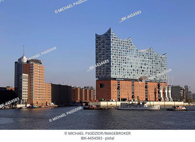 Elbphilharmonie, concert hall, Kehrwiederspitze, HafenCity, Hamburg, Germany