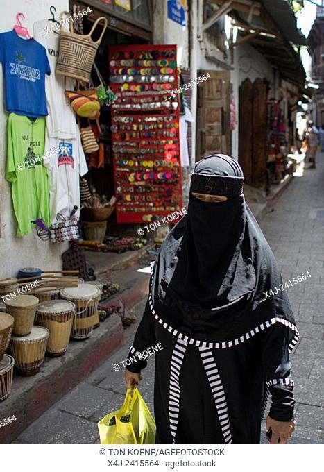 women in traditional dresses in Zanzibar
